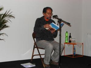 El poeta chileno Nicolás Miquea Cañas Foto: Walter Trujillo Moreno