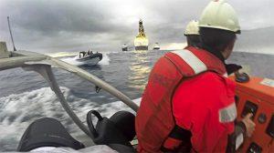 Embestidos por la Armada por decir NO a las prospecciones