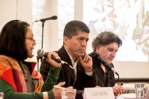 Lucía Muriel, Pablo Fajardo y Walter Trujillo Moreno