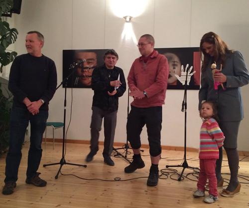 Dr. Hans-Andreas Schönfeldt, Walter Trujillo, Rainer Wals y Vicky Prieto